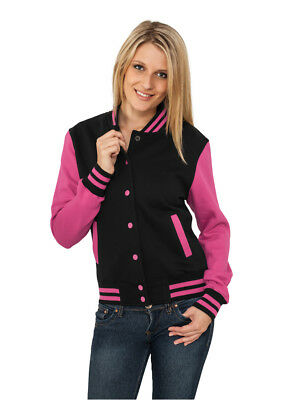 Ladies 2-tone College Sweatjacket Urban Classics Streetwear Giacca Donna