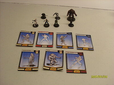 STAR WARS miniatures 7 x Revenge Of The Sith