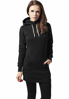 Ladies Long Sweat Hoody Urban Classics Streetwear Felpa Cappuccio Donna