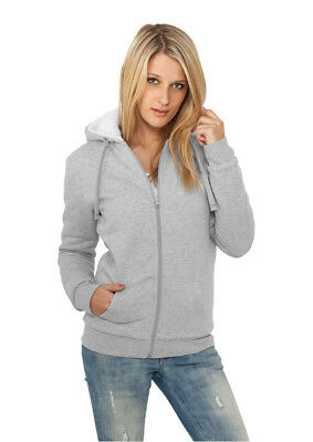 Ladies Winter Zip Hoody Urban Classics Streetwear Felpa Cappuccio Donna