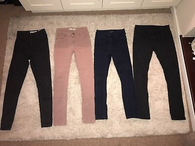 Ladies Bundle Of Jeans From Topshop And Miss Selfridge Size 10 And W26 L30