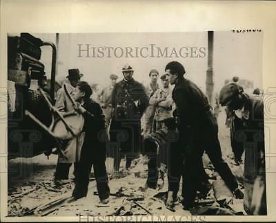 1943 Photo Paris Residents Salvage Goods from Debris Near Renault Works