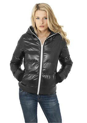 Ladies Shiny Bubble Jacket Urban Classics Streetwear Giacca Invernale Donna