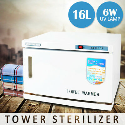 NEW Hot Towel Cabinet Salon Towel Warmer Barber Shop Towel UV Sterilizer Spa 16L