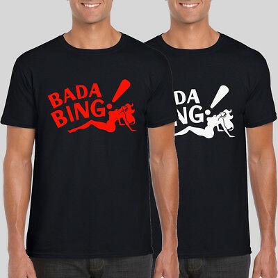 BADA BING ! The Sopranos Movie New Tshirt Tony Strip Club Gift Gangster Mafia