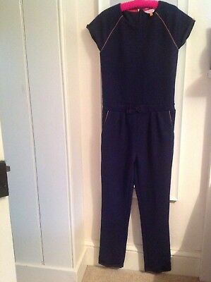 ted baker girls jumpsuit blue age 10-12 exc