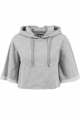Ladies Cropped Hooded Poncho Urban Classics Streetwear Hoodies Felpa Cappuccio