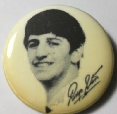 Beatles - Ringo Star signiture pin back button