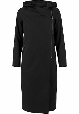 Ladies Peached Long Asymmetric Coat Urban Classics Streetwear Giacca Invernale