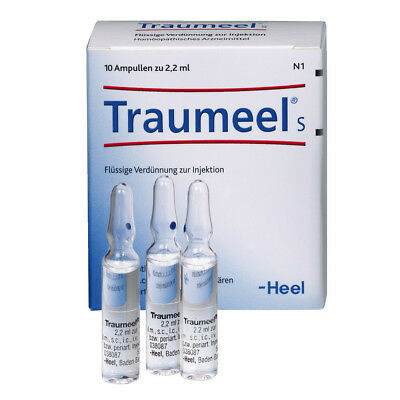 Traumeel S - Homeopathic Anti-Inflammatory Pain Relief - 10 Ampoules