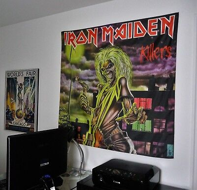 IRON MAIDEN Killers HUGE 4X4 BANNER poster tapestry cd album wall decor eddie