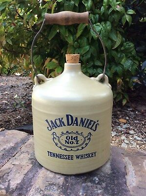 Vintage Jack Daniels Whiskey Jug Old No. 7 Tennessee Wood Handle