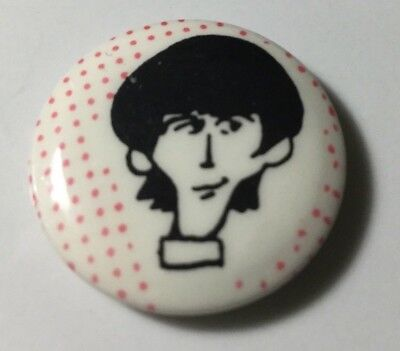 Beatles - George Harrison cartoon pin back button