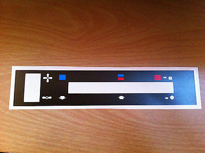 Ford Escort mk 2 heater control decal (not RS 2000 or Mexico)