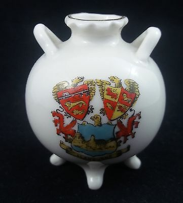 Gemma Crested China Cauldron /Urn - Llandudno Crest
