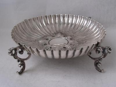 Nice Antique Solid Sterling Silver Dish/ Bowl 1889/ Dia 12 cm/ 124 g