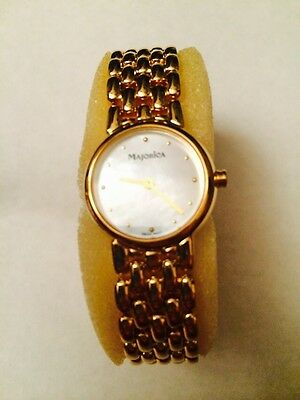 Rare Gorgeous Majorica Watch With Mother Of Pearl Face
