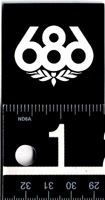 686 SNOWBOARDING STICKER Six Eight 2 Inch Square Black White Snowboard Decal