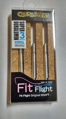 COSMO FIT SUPER DURALUMIN NORMAL SPINNING #3 SHAFTS 24mm  FOR FIT FLIGHTS ONLY