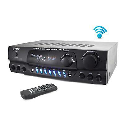 Home Theater BT Receiver Amplifier with AM/FM Radio & Two Microphone Inputs...