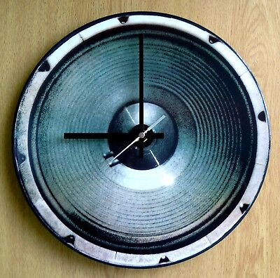 """Speaker, Bass, Woofer 12"""" Limited Edition Picture Disc Wall Clock (Kingdom Come)"""