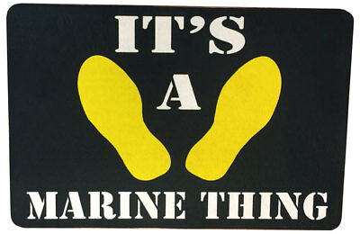 Marine Corps Boot Camp It's A Marine Thing -Those Yellow Footprints Door Mat Rug