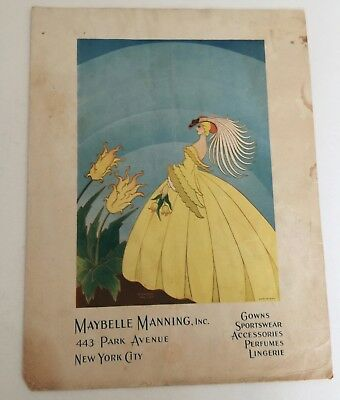 Maybelle Manning Fashion Vintage Print Ad
