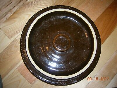 Vintage 4 gallon Brown Crock Lid
