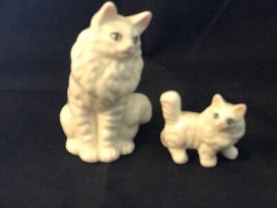 Small Ceramic Cat and Kitten