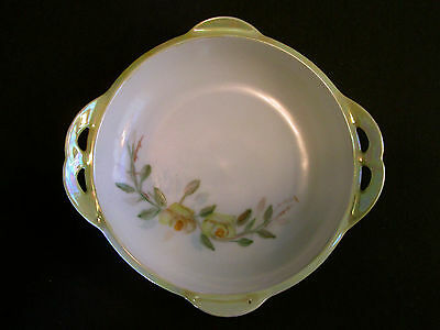 Vtg Small Yellow Floral Dish R.S.Tillowitz Silesia Reinhold Schlegelmilch