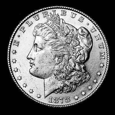 1878 S ~**ABOUT UNCIRCULATED AU**~ Silver Morgan Dollar Rare US Old Coin! #409