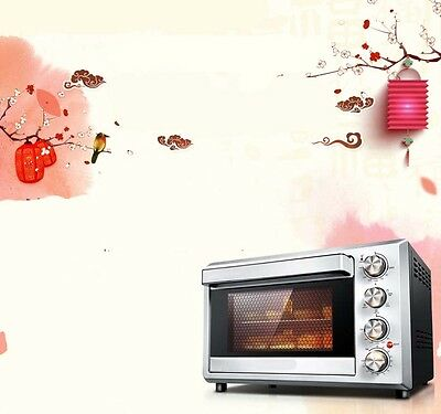 38L Home Commercial Black Multi-function Heating Benchtop Electric Oven *