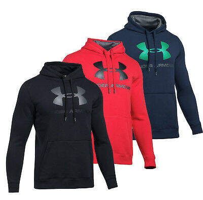 Mens Under Armour Rival Fleece Fitted Graphic Hoodie UA Big Logo Hoodie NEW