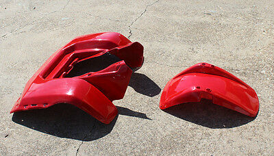 New Honda Atc200S Atc 200S 84 - 86 Front And Rear Fender Red