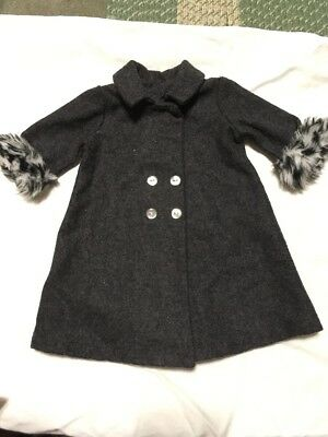 American Girl doll clothes Nellie's Winter Long Gray Coat Retired Beautiful!