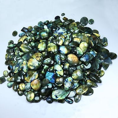 5000 Cts. 50+ Pcs NATURAL LABRADORITE CAB GEMSTONE WHOLESALE LOT MADAGASCAR