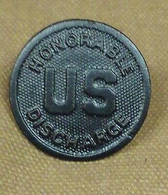 WWI US Collar Disk, Honorable Discharge, repro