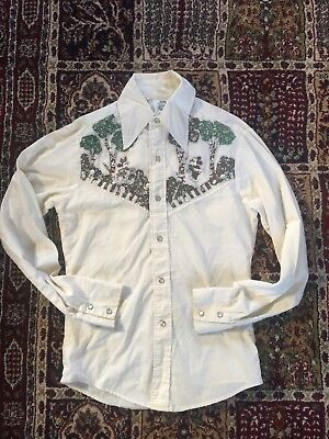 Rare 70s Kennington / Disney Western Shirt Made In USA Mens Small, collectible!