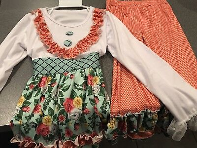 Little Girls ruffled Pant Outfit