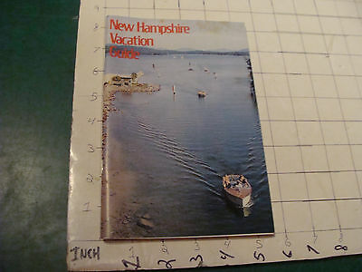 Vintage Brochure: 1971 New Hampshire Vacation Guide 84pgs -- Spotting on Cover