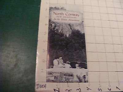 Vintage HIGH GRADE Brochure: NORTH CONWAY NH in the white mtns; 1971 - 16pgs