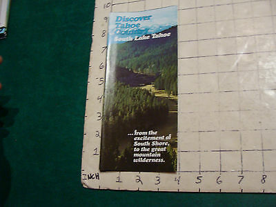 Vintage High Grade brochure: Discover Tahoe Country SOUTH LAKE TAHOE 1974