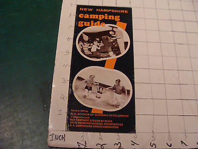 vintage Paper item: New Hampshire CAMPING GUIDE, 1971, 32pages, some spotting