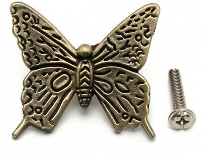 Vintage Butterfly Cabinet Handles Kitchen Furniture drawer pull knob With Screws