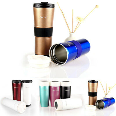 Stainless Steel Travel Mug Vacuum Flask Thermos Water Bottle Coffee Cup 2 Size