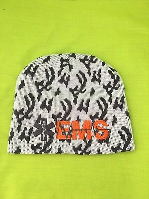 NEW Embroidered EMS Medical Rescue Winter Camo Beanie Hat