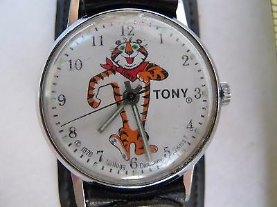 vintage 1976 Kelloggs Frosties 'Tony' Tiger watch, Swiss Made