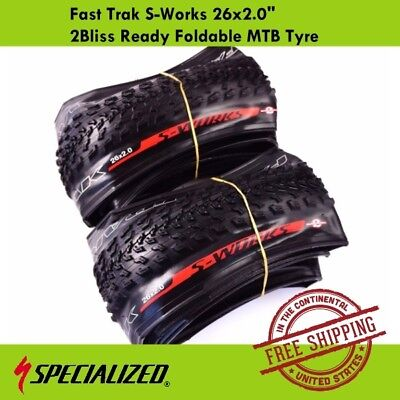 """Specialized Fast Trak Control S-Works 26x2.0"""" 2Bliss Ready Foldable MTB Tire"""