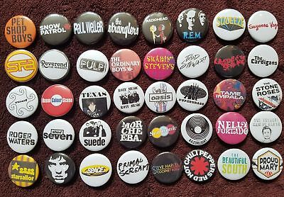Pop Music Button Badges (Collection 3).  Pins.  Collector.  Bargain.  :0)