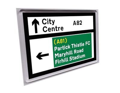 Glasgow Scotland road sign fridge magnet - Partick Thistle Firhill Maryhill Road